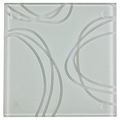 Tesco Set of 4 Glass Coasters.