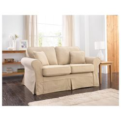 Louisa Small Sofa with Removable Jaquard Cover, Camel