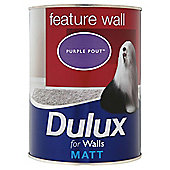 Dulux Matt Feature Wall Purple Pout 1.25l