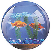 Fellowes Round Brite Mouse Mat with Goldfish Bowl Design and Non Slip Base