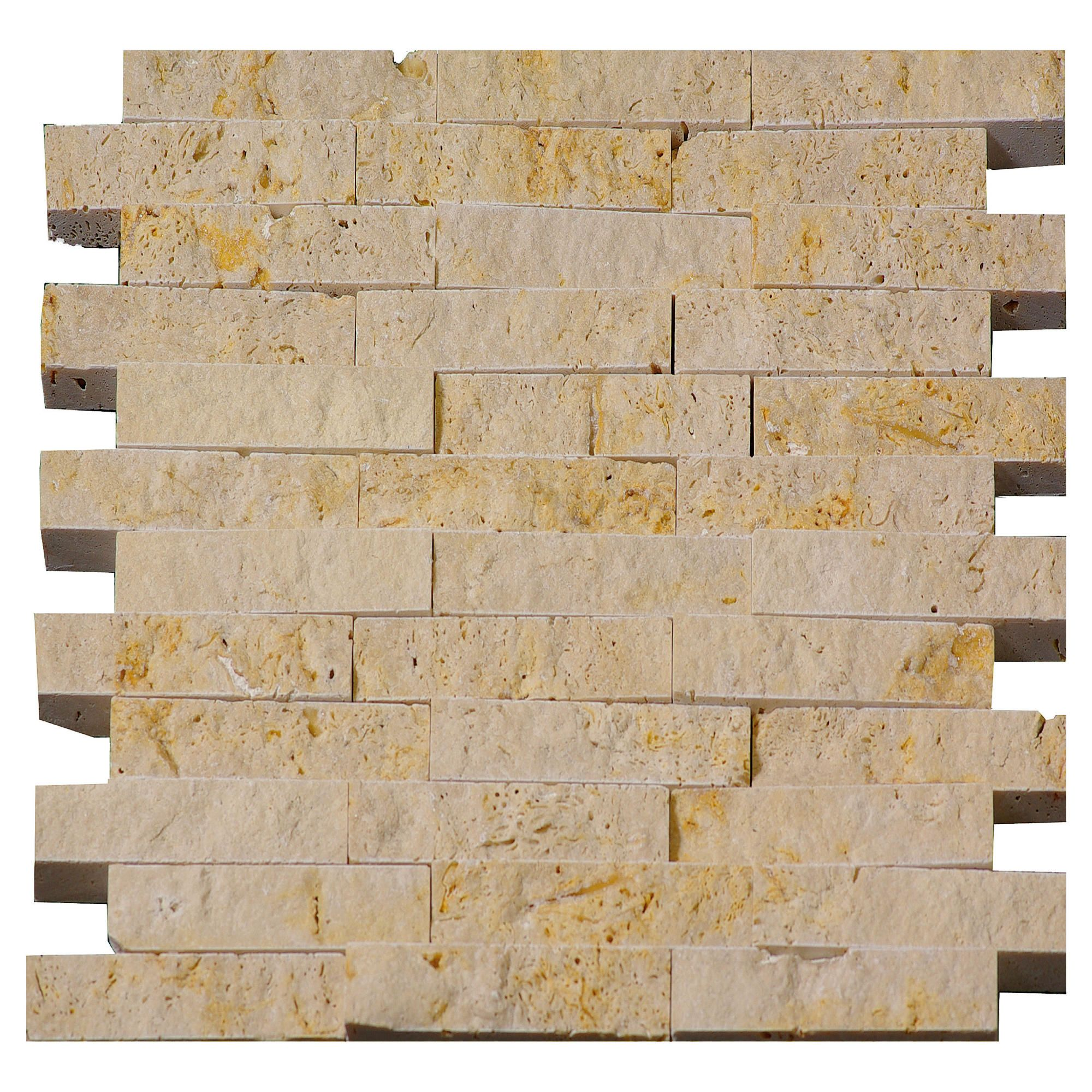 Tumbled Noce Stone Effect Travertine Wall Tile Pack Of 15: Myshop
