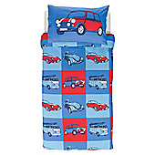 Tesco Kids Retro Cars Duvet Set