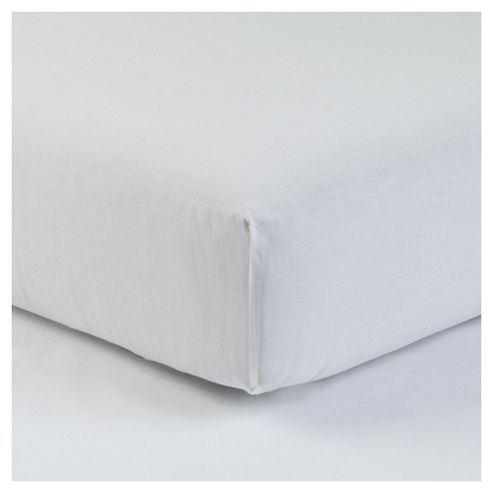 Tesco Deep King Size Fitted Sheet, White