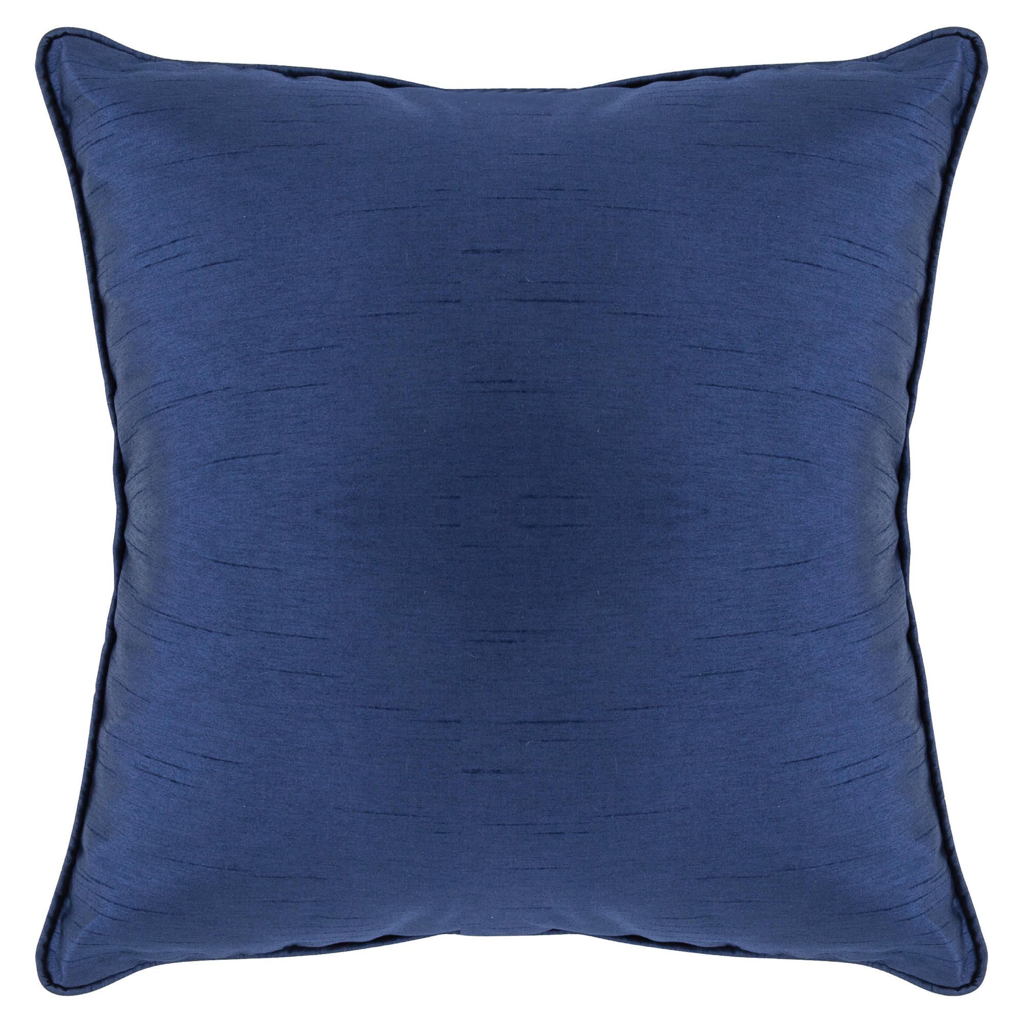 Tesco Set of 2 Faux Silk cushions, navy