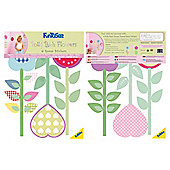 FunToSee Polly Patch Flowers Wall Stickers
