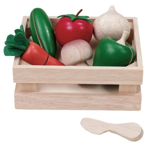 Voilia Crate Of Vegetables Wooden Toy