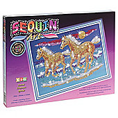 Sequin Art & Bead Horses