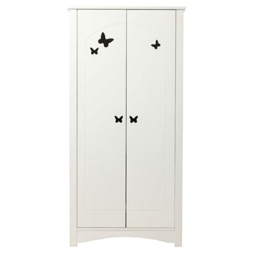 Butterfly 2 Door Wardrobe, White