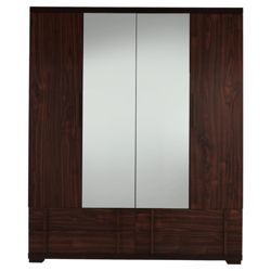 Brandon Quadruple Wardrobe, Walnut-Effect