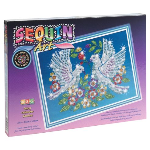 Sequin Art & Bead Doves