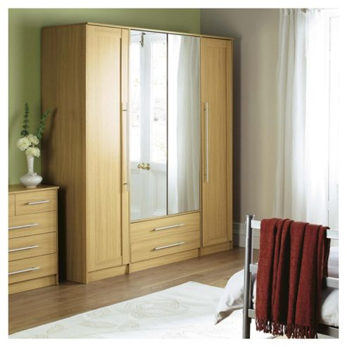 Kendal  4 Door Wardrobe, Oak Effect