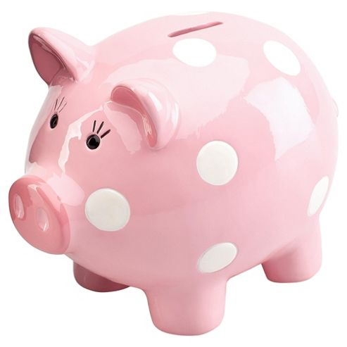 Buy tesco kids piggy bank pink from our ornaments for Piggy bank for toddlers