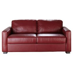 Colorado Leather Sofa Bed Red