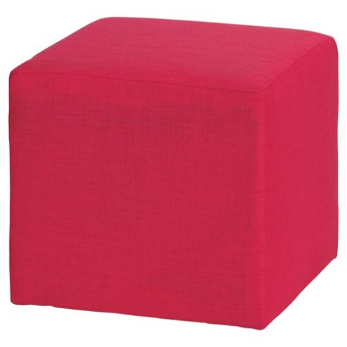 Stanza Fabric Cube / Foot stool Pink