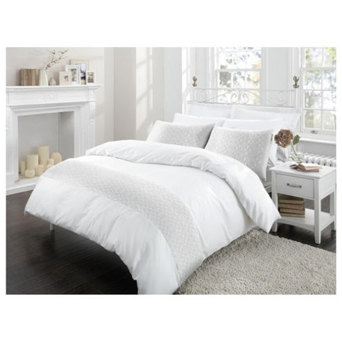 Finest Pima Cotton White King Size Quilted Duvet Set