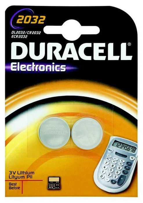 Duracell 2 Pack 220 mAh Lithium 2032 Batteries