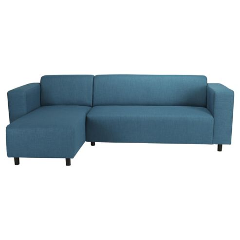 Stanza Fabric Corner Sofa Teal Left Hand Facing