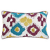 F&F Home ikat oblong cushion green