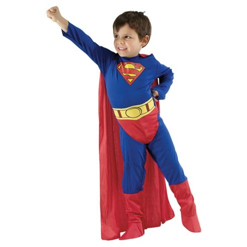 Superman Flat Chest Dress Up Small - 3-4 years