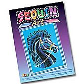 Sequin Art & Bead Black Horse