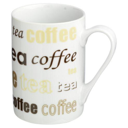 Tesco Tea and Coffee Set of 4 Mugs