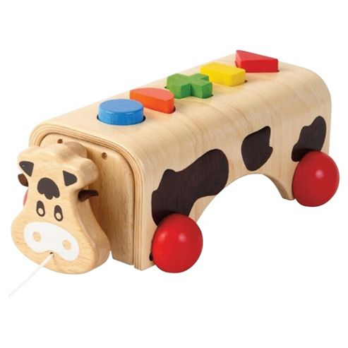 G Voila Geo-Cow Wooden Toy
