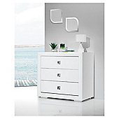 Bebecar Series Chest, White Art