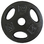 One Body 2kg Cast Iron Weight