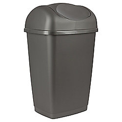 50L Swing Kitchen Bin, Platinum