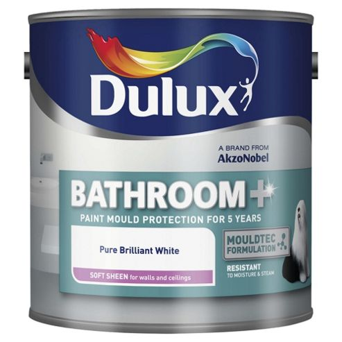 Dulux Bathroom Paint, Pure Brilliant White, 1L