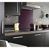 Plum Glass Splashback 600x700mm