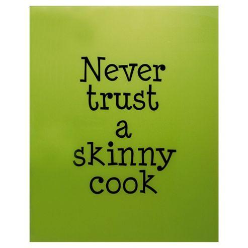 Designer Printed Splashback Skinny Cook Lime 60x75