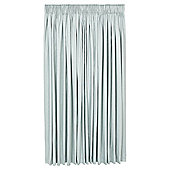 Tesco Plain Canvas Lined Pencil Pleat Curtains - Duck egg