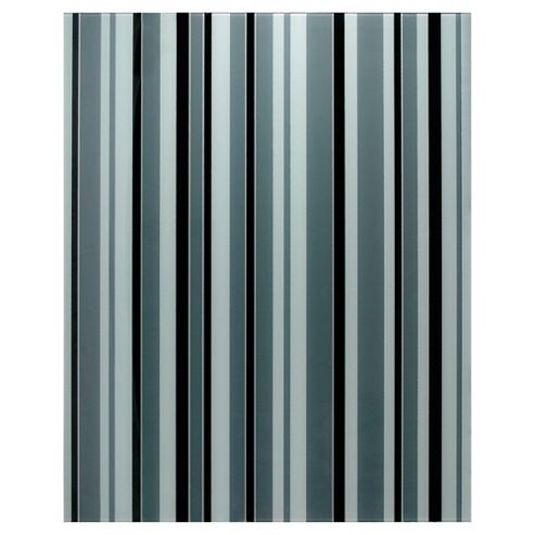 Designer Printed Splashback Stripe Black & White 60x75