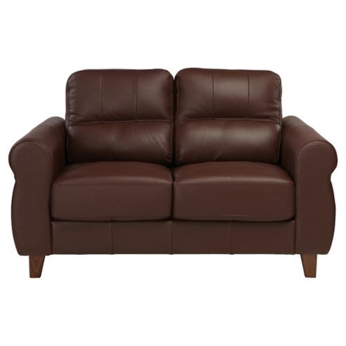 Fabio Small Leather Sofa Cognac