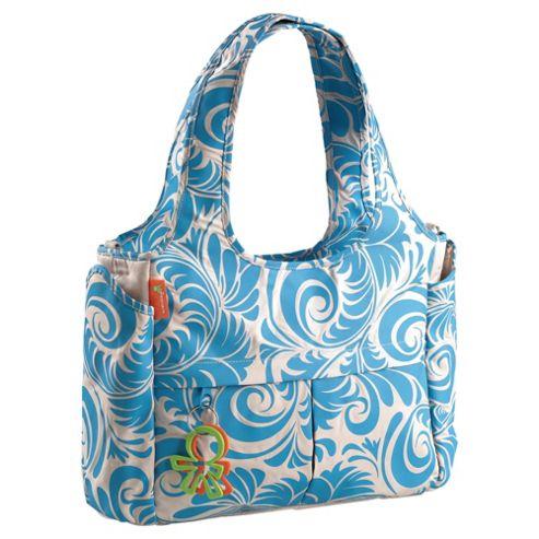 Okiedog Equinox Celeb Tote Baby Changing Bag Blue/Beige