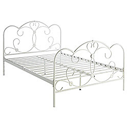 Florence Double Bed Frame, Cream
