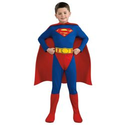 Superman Flat Chest Dress Up Medium - 5-8 years