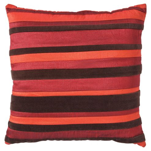 F&F Home stripe cushion, red
