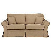 Louisa Medium Sofa with Removable Jaquard Cover, Camel