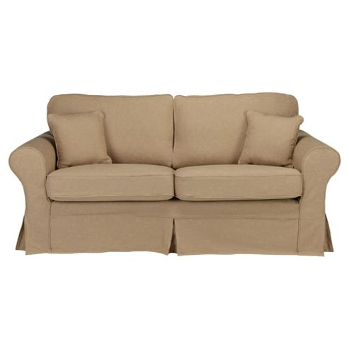 Louisa Medium 3 Seater Sofa with Removable Jaquard Cover, Camel