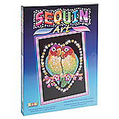 KSG Crafts Sequin Art Love Birds