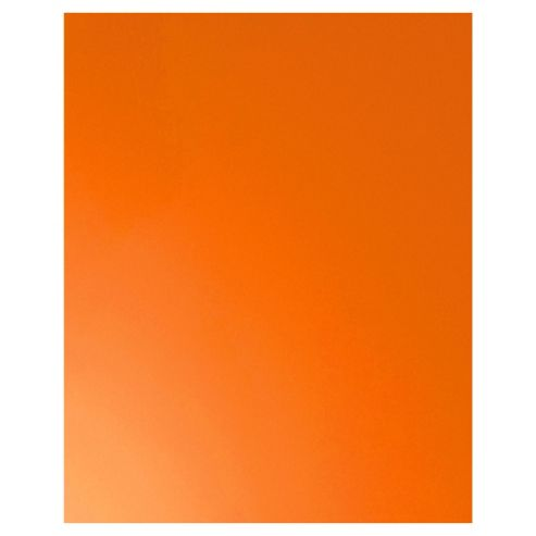 Plain Glass Splashback,  Orange, 60x75