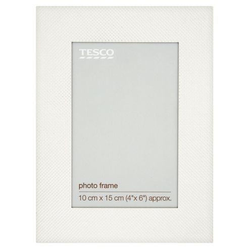 Tesco Silver Woven Frame 4x6