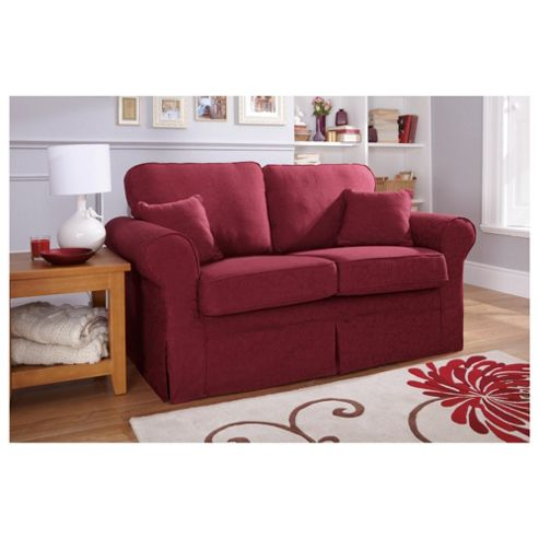Louisa Small 2 seater  Sofa with Removable Jaquard Cover, Wine