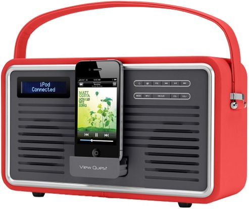 Viewquest Retro Dab Radio With iPhone / iPod Dock.