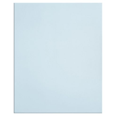 Plain Glass Splashback, Silver, 60x75