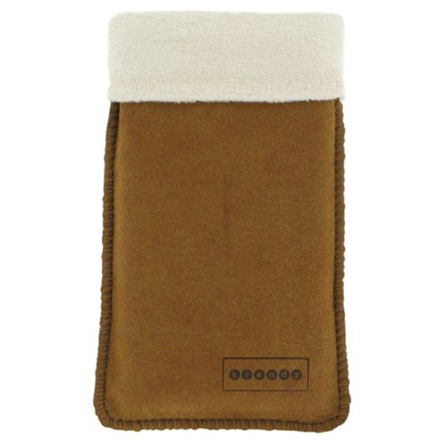 Trendz Faux Fur-Lined Suede Mobile Pouch Universal Tan/Cream