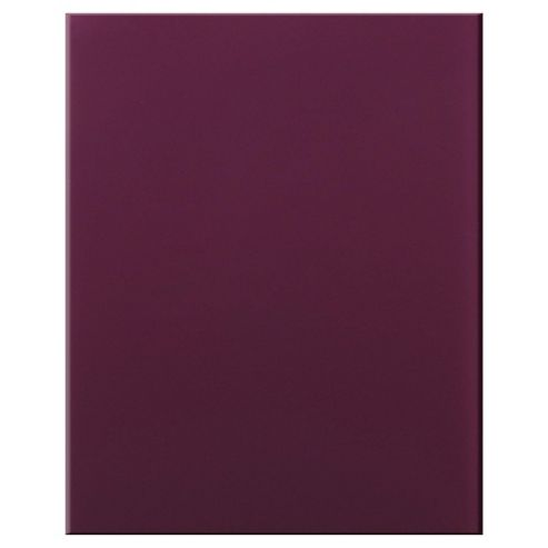 Plain Glass Splashback,  Plum, 60x75