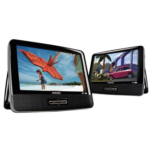 Philips PD9016/05 Dual 9 inch Portable DVD Players with independent screens